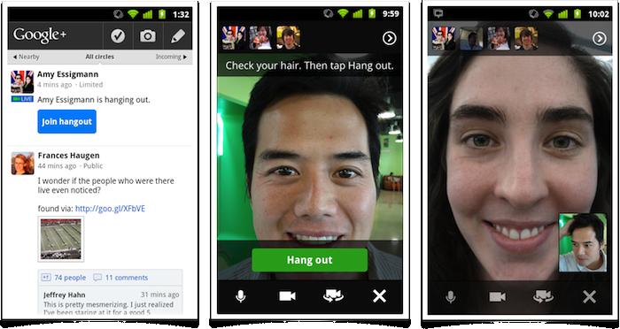 Google Plus Mobile Hangouts