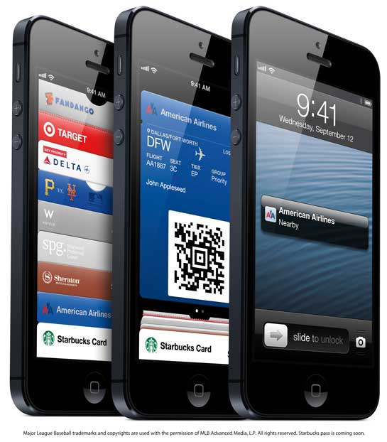 iOS6 Passbook on iPhone 5