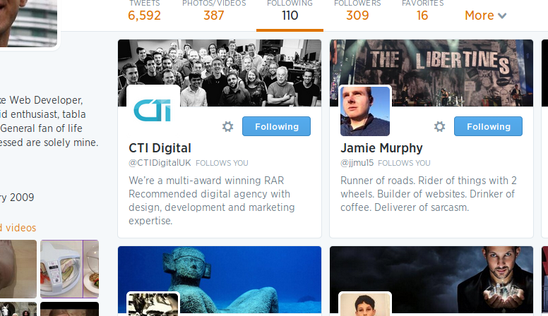 @chevli Twitter Following